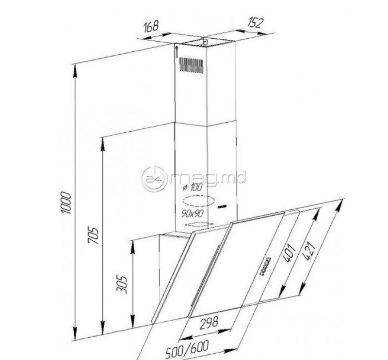 PYRAMIDA KZ 50 BR 50 cm 320 m³/h