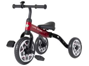 RASTAR LAND ROVER 2 IN 1 BALANCE BIKE & TRICYCLE FOLDABLE RED Negru rosu