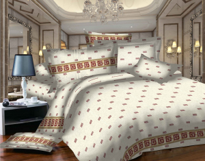 SWEET DREAMS EURO P2E RA rosu/alb bumbac (cotton) 2 persoane