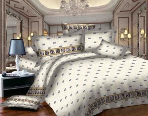 SWEET DREAMS EURO P2E B albastru/alb bumbac (cotton) 2 persoane