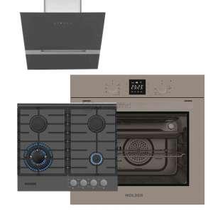 WOLSER WL-TR 601 DSB + WL-TR08DSB + WL-TR6400 GT SB FFD Hota Plita incorporabila Cuptor incorporabil