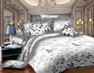 SWEET DREAMS P1 F negru/alb bumbac (cotton) 1 persoana