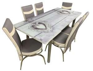 EC-107 masă 6 scaune