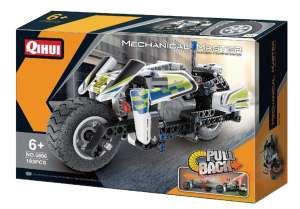 QIHUI PULL BACK POLICE MOTORBIKE 5806 plastic