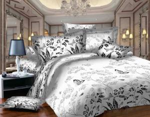 SWEET DREAMS P2 F negru/alb bumbac (cotton) 2 persoane
