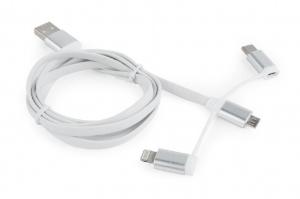 CABLEXPERT CC-USB2-AMLM32-1M-W microUSB USB Lightning