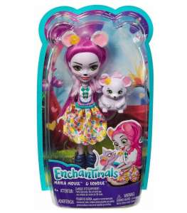 ENCHANTIMALS MAYLA MOUSE DOLL & FONDU FIGURE FXM76