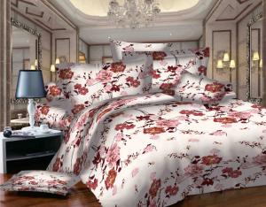 SWEET DREAMS P1 R rosu/alb bumbac (cotton) 1 persoana