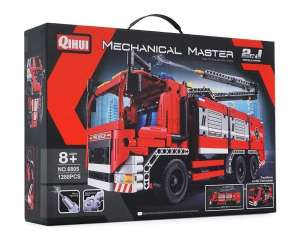 QIHUI FIRE TRUCK WITH WATER SPRAYING 6805 plastic
