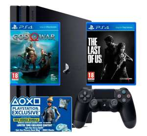 SONY PLAYSTATION 4 PRO 1TB + FORTNITE NEO VERSA BUNDLE + THE LAST OF US + GOD OF WAR