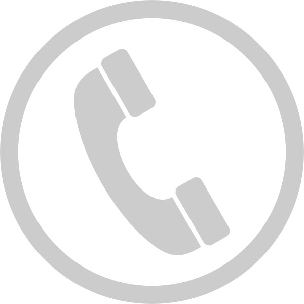 Белый значок телефон